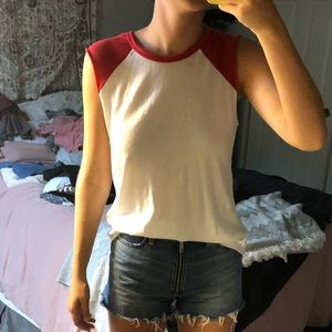 Red and White Tank